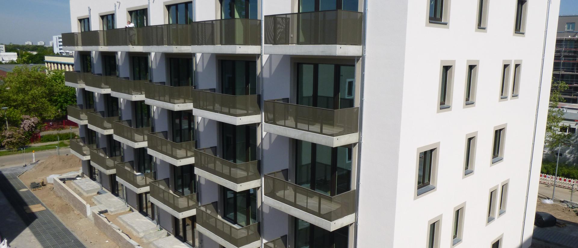 Blick auf die Baustelle - Wohngebäude Havelländer Ring