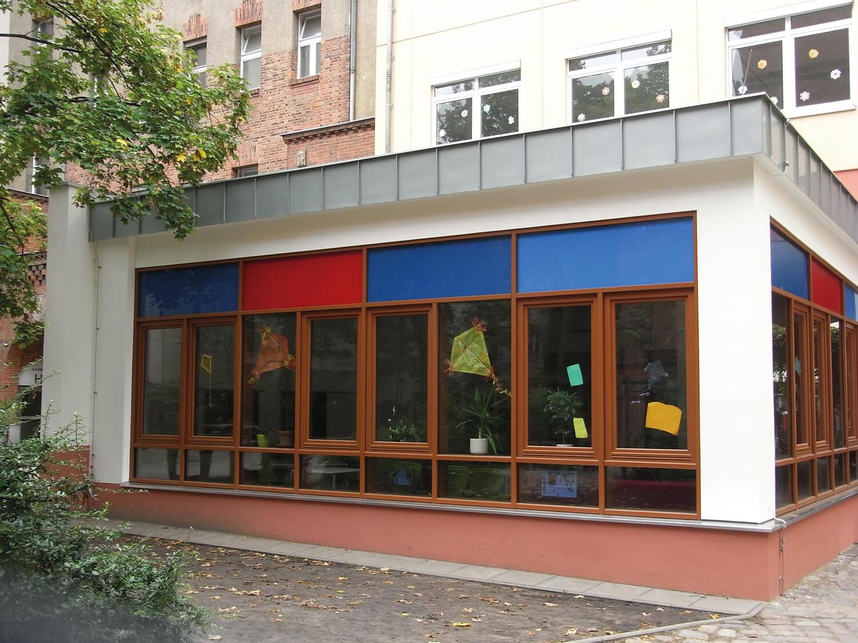 Hoffassade Neubau