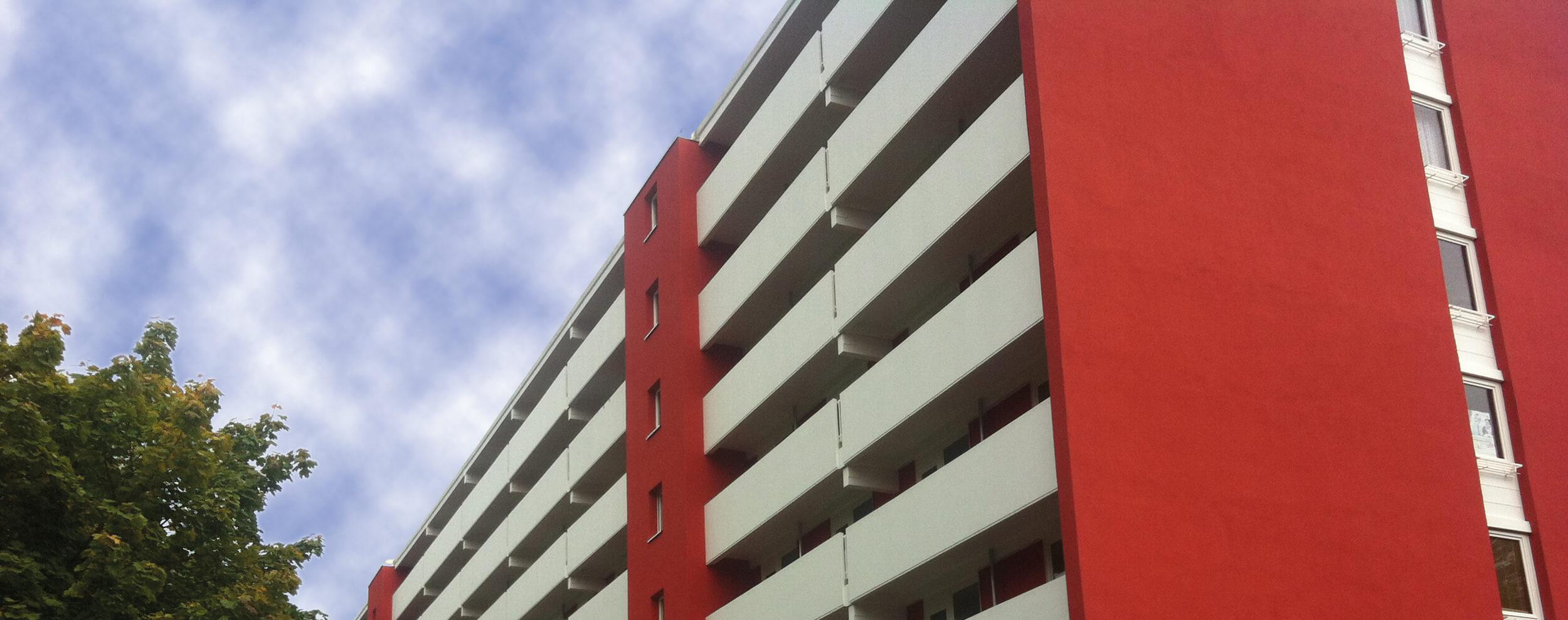 sanierte Fassadenansicht