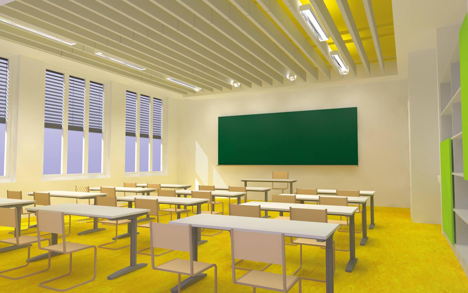 Visualisierung eines Klassenzimmers