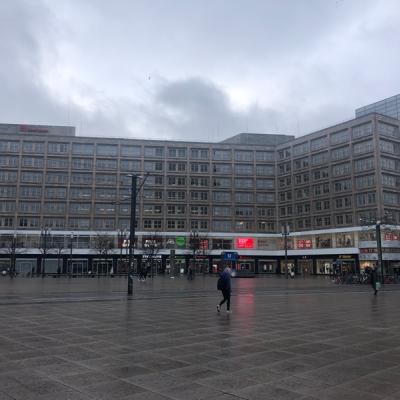 Blick auf das Bestandsgebäude am Alexanderplatz