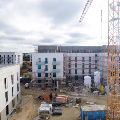 Blick auf die Baustelle - Gartenstadtquartier