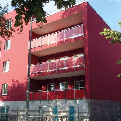Außenansicht, Fassade des Neubaus - GRÜNE 9